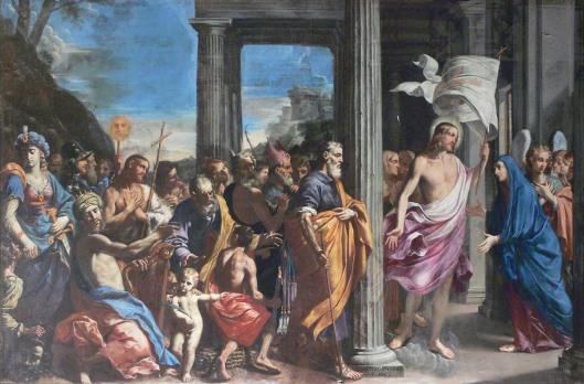 L_Pasinelli_Cristo_resucitado_visita_a_su_madre_acompañado_de_los_padres_de_la_iglesia_Certosa