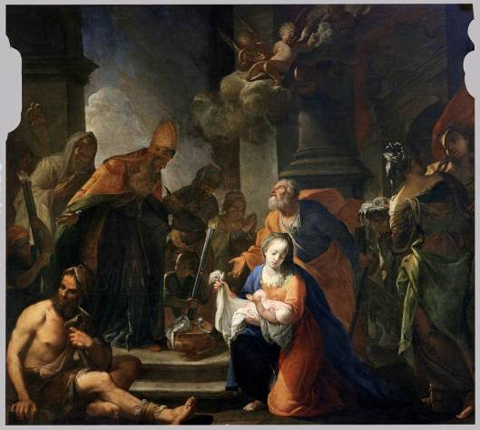 Andrea_Celesti_Presentación_de_Jesús_en_el_Templo_1710_San_Zaccaria_Venecia