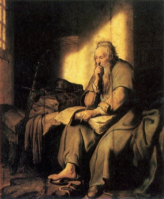 Paul_in_prison_by_Rembrandt